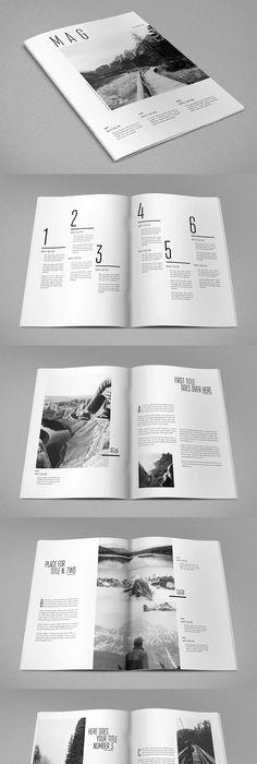 Creative and Minimalist Magazine Template Adobe InDesign INDD ...