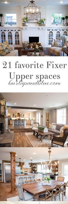 Fixer upper dining rooms living rooms and kitchens get the fixer upper look