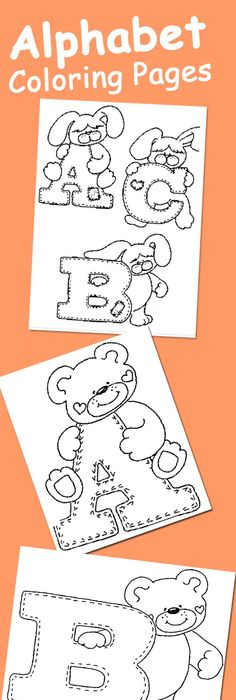 Alphabet Coloring Pages - great idea for baby shower! Print all the - best of welcome baby coloring pages
