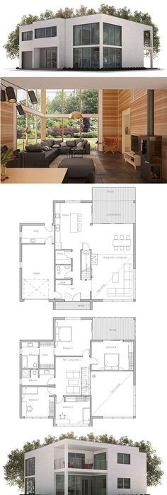 the minimalist Small Modern House Plan Small modern houses