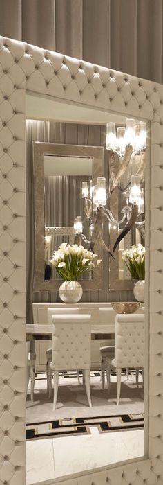 Elegant Floor Mirror For Interior.   By Davies Design