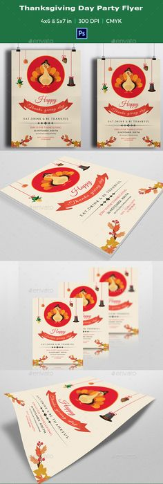 Thanksgiving day cards Thanksgiving invitation, Thanksgiving and - Invitation Flyer Template