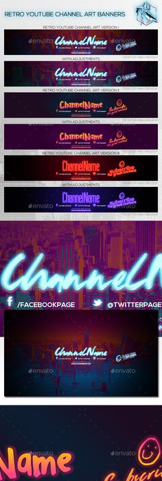 360 Video Channel - Youtube Banner Template Banner template, Video - channel banner template