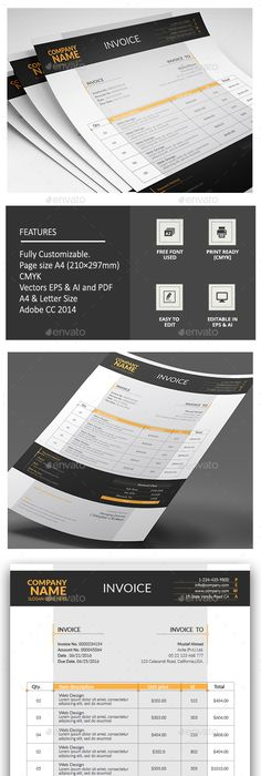 Corporate Invoice Template Proposal Templates And Stationery