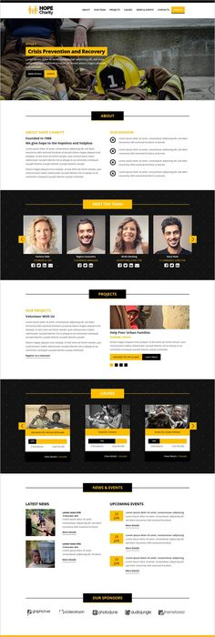 charity home responsive html template for charity fund raising