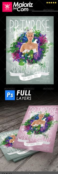 Acoustic Event Flyer Templates Vol5 Fonts Logos Icons Pinterest