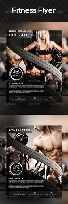 Gym Fitness Flyer Gym fitness, Gym and Flyer template