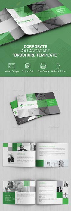 Corporate Landscape Brochure Vol2 Brochures Brochure Template