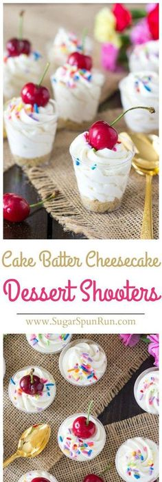 5Ingredient Cake Batter Cheesecake Recipe Cold desserts Picnic