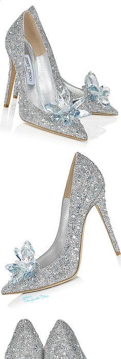 Jimmy Choo  Cinderella . Not the least bit practical for a beach wedding 700260a7ddb4