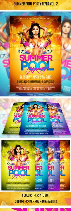 Pool Party Flyer Template  Graphicriver Item For Sale  Nightlife