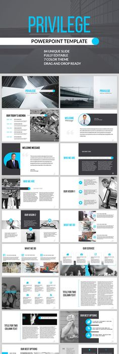 Powerpoint Template By Design District Via Behance  Graphiccccc