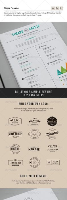 resume template 5 pages with life map template resume cv and ui ux design