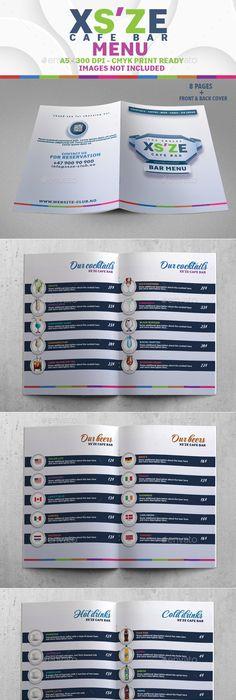Cocktail Bar Menu Template Menu templates, Design projects and Menu - bar menu template