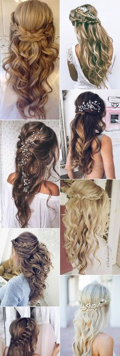 42 Half Up Half Down Wedding Hairstyles Ideas | Weddings, Prom and ...