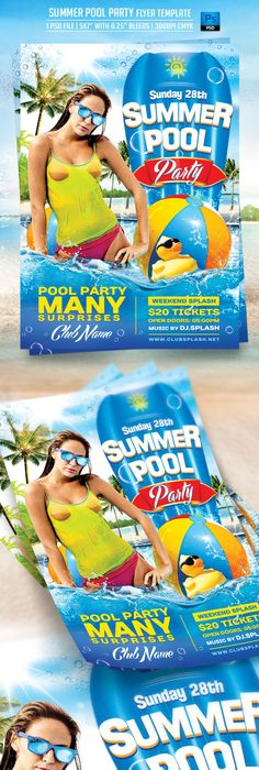 Summer Beach Party Flyer  Summer Beach Party Party Flyer And