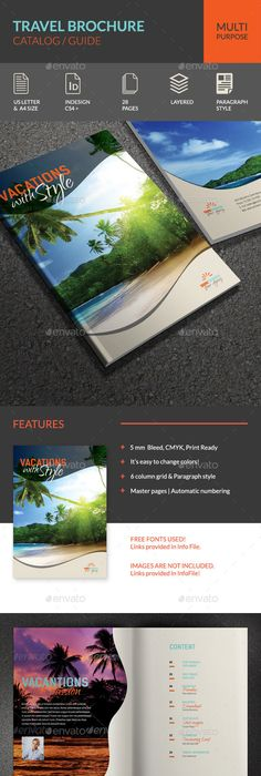 Travel Agency Guide Catalog  Brochure  Brochures Catalog Layout
