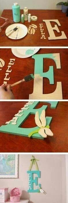 Wooden Letters, Baby Nursery Wall Hanging Letters in Script Font