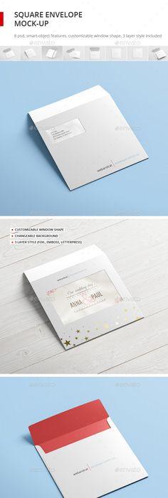 Square Greeting Card / Bi-Fold Brochure Mock-Up | Mockup, Brochures ...