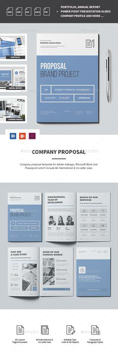 Proposal Template Microsoft Word Proposal  Proposals & Invoices Stationery  Stationary Item  Easy .
