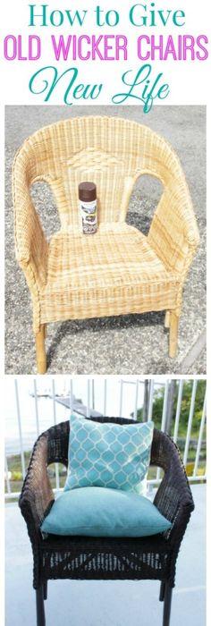 Comment nettoyer et peindre une chaise en osier? Salons, Furniture - comment peindre une chaise