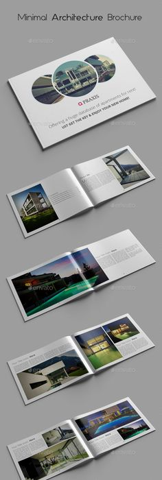 Minimal Architecture Brochure Templates  Brochure Template