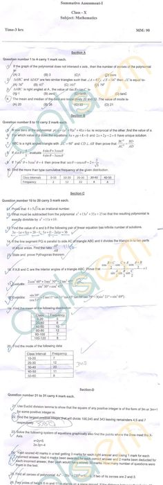 CBSE Class 10 SA1 Question Papers u2013 Science AglaSem Schools - new blueprint and model question paper for class xi