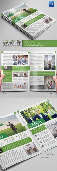 Corporate Newsletter Template   Pages  Newsletter Templates