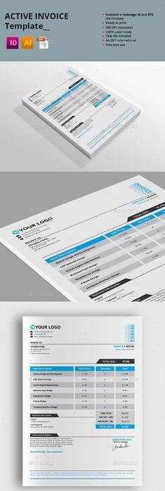 Simple Invoice Template Ai Psd By Raymar Lobaton Via Behance