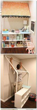 kinderbett haus selbst bauen diy deko upcycling f r zuhause pinterest kinderbett haus. Black Bedroom Furniture Sets. Home Design Ideas