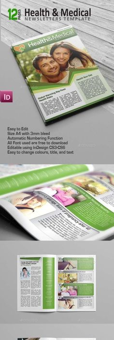 8 Page A4/Letter Business and Finance Newsletter Newsletter - Medical Newsletter Templates Free