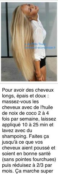 Comment avoir les cheveux tres long