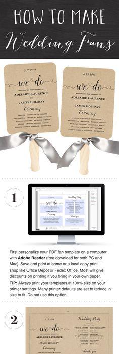 DIY Tutorial FREE Printable Folded Wedding Program Wedding - best of wedding invitation design software free download