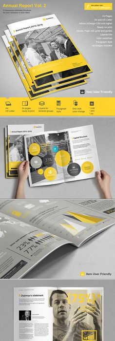 Annual Report Annual Reports Template And Brochures - Annual report template indesign