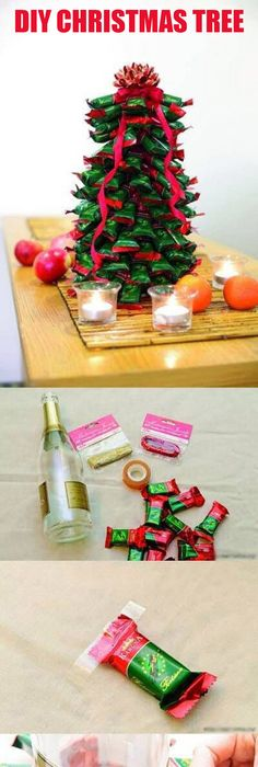 Christmas tree from chocolate kisses handmade christmas how to make a diy christmas tree do it yourself and you solutioingenieria Images