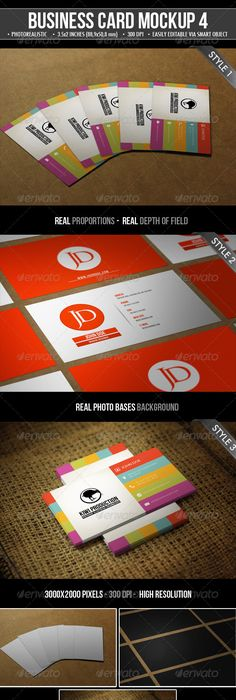 Photo realistic business card mockups photoshop psd creative 3 realistic business card mock up reheart Images