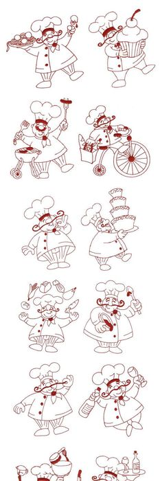 spice it up bakers gonna bake design uth10340 from httpurbanthreadscom embroidery pinterest embroidery cricut and wood burning - Bakers Gonna Bake Kitchen Redwork Embroidery Designs