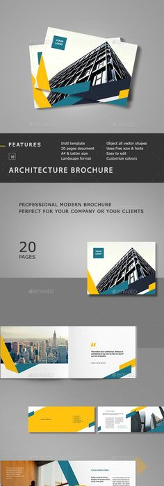 Geometric BiFold Brochure  Brochure Template Brochures And Template