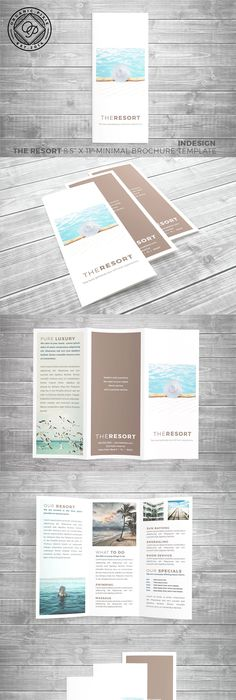 simple minimal trifold brochure template brochures and minimal