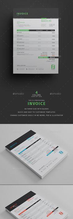 Invoice Template Ai Illustrator And Design Layouts