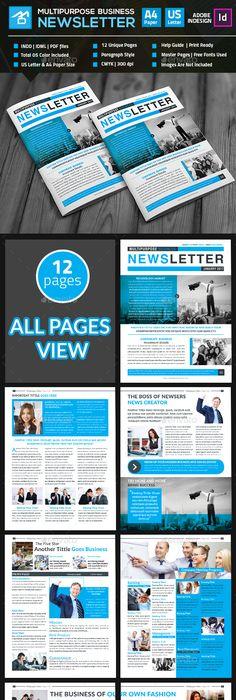 Page Newspaper Indesign V  Indesign Templates Newspaper And
