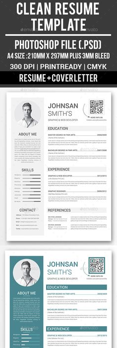 Clean Resume Template  Template Business Card Maker And Business
