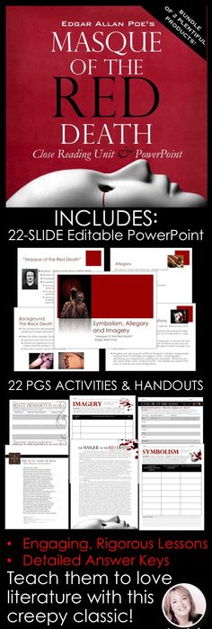 Symbolism Flipbook And Powerpoint Masque Of The Red Death By Edgar