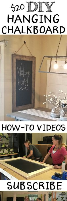 The best do it yourself gifts fun clever and unique diy craft diy hanging chalkboard youtube video tutorial solutioingenieria Choice Image