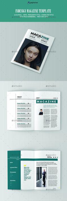 InDesign Magazine Template   Indesign magazine templates, Template ...
