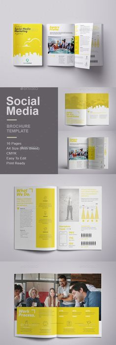 Clean  Professional Case Study Booklet Template Indesign Indd