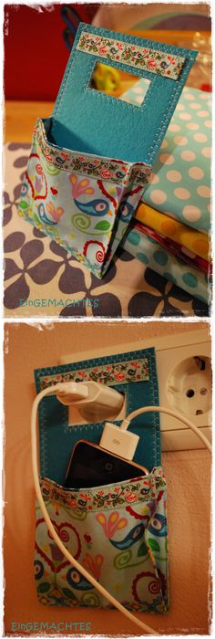 31 cute things to sew for girls phone charger holder charger diy crafts phone charger holder solutioingenieria Images