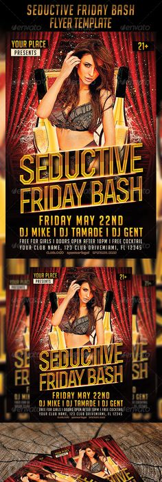 Afrobeat Fridays Flyer Template  Flyer Template Template And