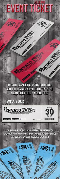 Sports Event Ticket Template | Ticket template, Event ticket and ...