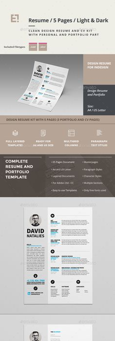 Resume Cv template, Template and Resume cv - resume 5 pages
